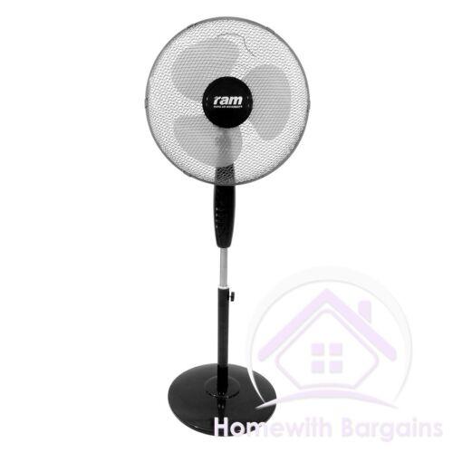 """RAM 16/"""" Pedestal 16/"""" Wall Floor Fan 12/"""" Box Fan 3 Speed 6/"""" Clip-on Fan 2 Speed"""