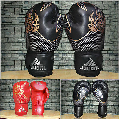 Boxing Combat Gloves Fitness Training MMA Thai Muay Boxing Mitten Mitts 10oz
