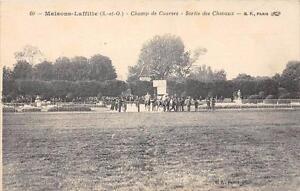 CPA 78 MAISONS LAFFITTE CHAMP DE COURSES SORTIE DES CHEVAUX