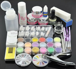 poudre acrylique paillettes brosse ongle false doigt pompe art ongles outils ebay. Black Bedroom Furniture Sets. Home Design Ideas