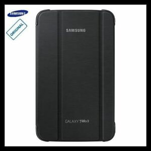 newest bd6b2 8fa82 Details about SM-T311 Samsung Galaxy Tab 3 8.0 Case Cover Stand Black  Leather Folio Genuine