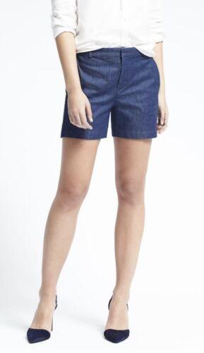 Banana Republic Women Short Ryan-Fit Rinse Wash Shorts Pants Denim Petite Size 6