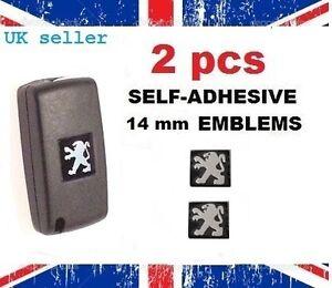 2-x-Badge-Logo-Emblem-Sticker-Peugeot-Key-Fob-Case-107-207-307-607-308-408-1