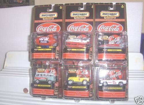 los clientes primero Matchbox 1999 estreno estreno estreno Coca Cola Set  3 de 6 Modelos Menta en paquetes como nuevo   alta calidad