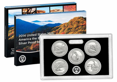 1 2014 United States Silver Proof Quarter Set in Original Box