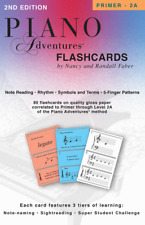Piano Adventures Flashcards In-a-box 2nd Edition 420218