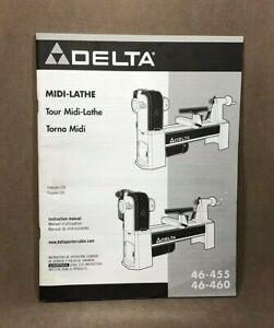Delta MIDI-LATHE 46-455 Instruction Manual - 2008 | eBay