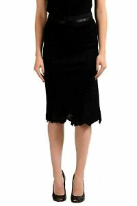 Maison-Margiela-1-Black-Women-039-s-Pencil-Skirt-US-M-IT-42