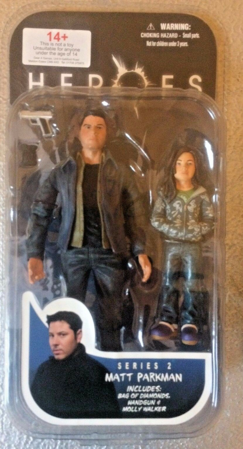 HEROES - MATT PARKMAN AND MOLLY 6 6 6   ORIGINAL SERIES ACTION FIGURE BY MEZCO 80ab1c