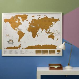Scratch map xl edition by luckies giant wall world travel scratch image is loading scratch map xl edition by luckies giant wall gumiabroncs Image collections