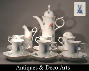 Meissen Porcelain 15 Piece (6 pers) Happiness Mocha Service Waves Game