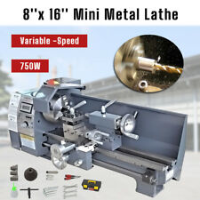 50 2500rpm Mini Metal Lathe Bench Variable Speed Woodworking 8x 16 750w