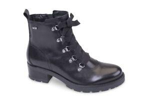 Woman 49550 Valleverde Stivaletti Donna A Boots Anfibio Pelle Nero waaOIzx