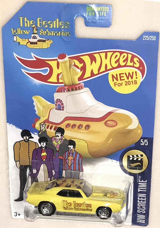 70 Dodge Cargador Personalizado Hot Wheels Los Beatles  giallo Submarine  Real Rider