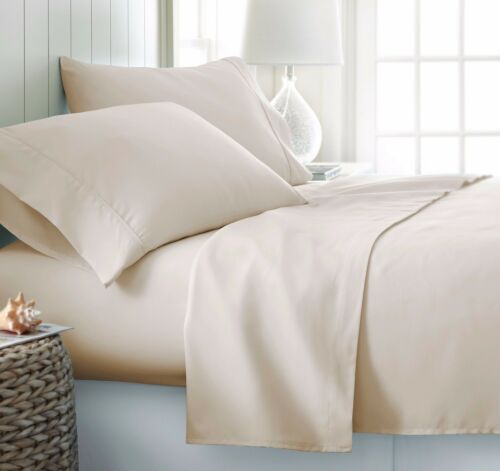 "Wrinkle Free Egyptian Cotton Comparable Softness Sheets set 18/"" Deep Pocket"