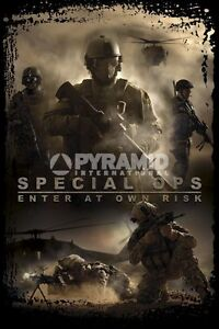 Special-Ops-POSTER-60x90cm-NEW-Enter-At-Own-Risk-War-Soldiers-Gaming-Shooting