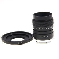 Fujian 25mm F1.4 CCTV TV Movie lens + C Mount to Nikon AW1 S2 J4 V3 J3 V1 J1 J2
