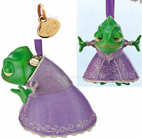 2014 Disney Store Tangled Green Pascal Sketchbook Christmas Ornament Rapunzel