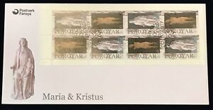 Faroe-FDC-2007-10-01-Mary-amp-Christ-Booklet-Pane-XF
