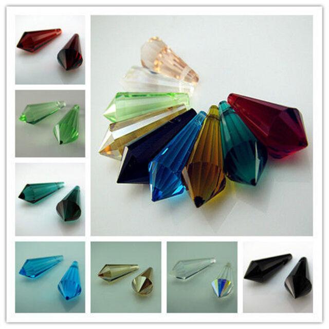 Free TOP 10color #8611 Dazzle Czech Crystal Teardrop Beads findings Pendant 20mm