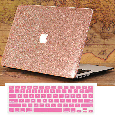 """Glitter Rose Gold Shiny Hard Case+Keyboard Cover for Macbook Air 13"""" A1369 A1466"""