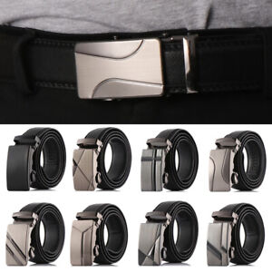 Strap-Men-Military-Ratchet-Waistband-Automatic-Buckle-Waist-Belts-Leather-Belts