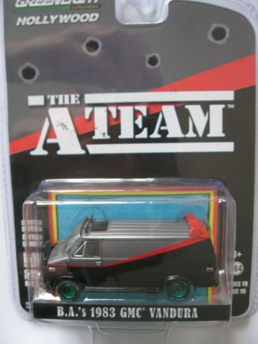 The A Team  1983 GMC Vandura Van GREEN MACHINE Chase Version 2* Greenlight 1:64