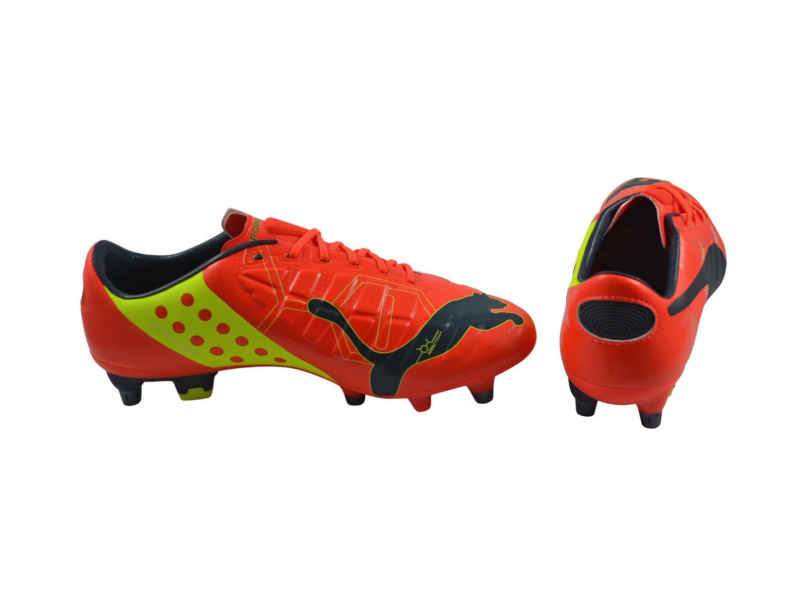 Puma evoPower 1 Mixed SG peach ombre bluee yellow Fußballschuhe 102944 01