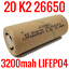 20-K2-LIFEPO4-26650-CELLS-3200MAH-LFP26650EV-BATTERIES-EBIKE-POWERWALL-EV-AUDIO thumbnail 1