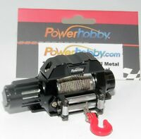 Powerhobby 1/10 Scale Rock Crawler Winch For Scx10 Wraith Rr10 Rc4wd Black on Sale