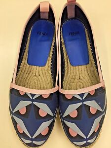 Fendi-Junia-Monster-Eyes-Print-Espadrilles-size-37-5