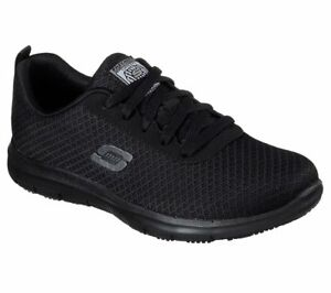 77210 Skechers Womens Work Shoes Relaxed  Fit  Ghenter Bronaugh SR Black