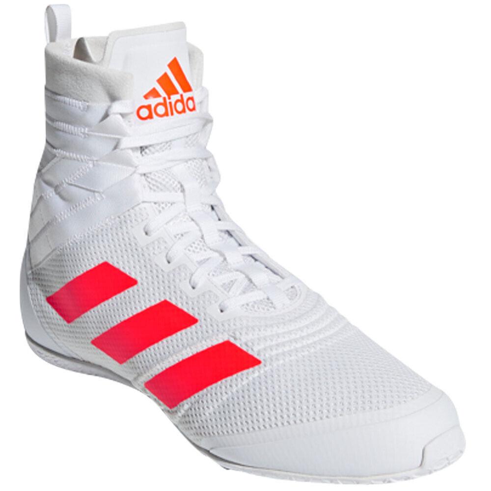 Adidas Boxschuhe, Speedex 18, weiß-rot