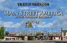 "TrainJunkies N Scale ""Main Street America 1""  Backdrop  12x80"" C-10 Brand New"