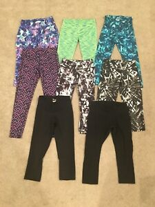 Huge-Lot-of-8-Pairs-Athletic-Leggings-Girl-039-s-10-12-14-16-XS-Old-Navy-Reebok