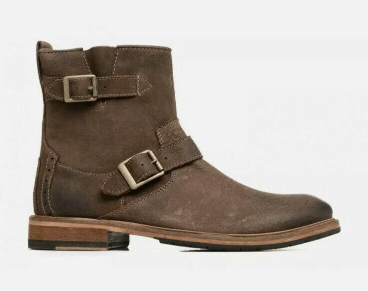 Clarks Mens Clarkdale Cash Brown Suede Nubuck Leather Biker Ankle Boot UK 7 G