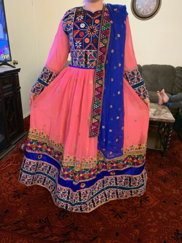 Afghani Dress Full Embroidery Afghan Traditional D