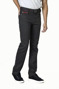 Duke-London-Mens-Big-Size-Bedford-Cord-Enzyme-Washed-Jeans-Canary-in-Charcoal