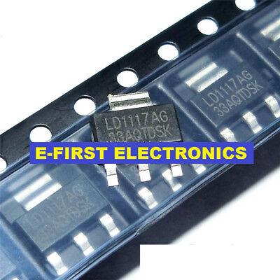 50PCS LD1117-3.3 3.3V 1A Voltage Regulator SOT-223 LD1117