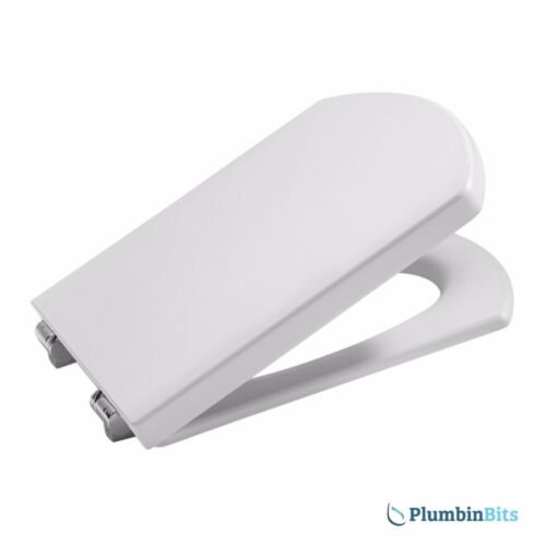 Roca Replacement Hall Compact White Toilet Seat CW Soft Closing Hinges 801622004