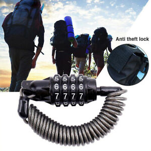 Combination-Lock-4-Digit-Password-Multifunctional-Motorcycle-Cable-Lock-Applied