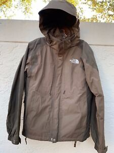 ad08e2a3f Details about THE NORTH FACE HOODED HYVENT 2 IN 1 MENS BROWN JACKET SZ S/P