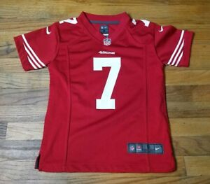 arrives bc2f8 c15cd Details about NICE Nike Colin Kaepernick On Field Jersey NFL 49ers Youth S  Womens XS RED BLM