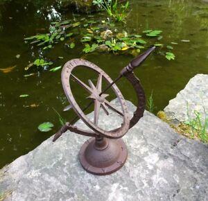 Détails sur Vintage Horloge Solaire le Style Maison de Campagne -  Décoration pour Jardin et
