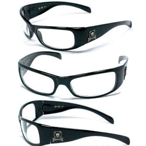 HOT CHOPPERS Men UV400 Sunglasses S.Black// Clear C11
