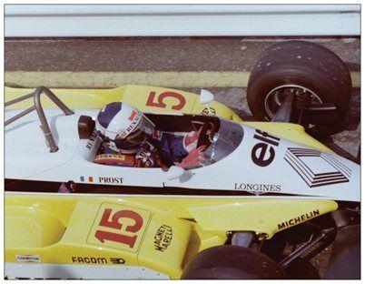Zandvoort Postcard Renault RE30B 1982 #15 Alain Prost
