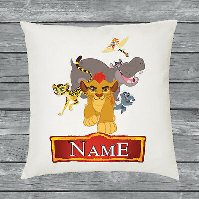 Personalised Lion Guard Group Cushion Cover • Any Name • Great Christmas Gift