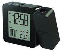 Oregon Scientific Projection Atomic Clock + Indoor Temperature (black),