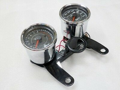 Motorcycle Odometer Speedometer Tachometer Speedo Bracket for Honda Cafe Racer