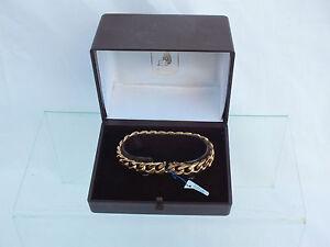 Bracelet-Pl-Or-a-mailles-Americaines-Oria-Etat-Neuf-avec-Ecrin-et-Etiquette